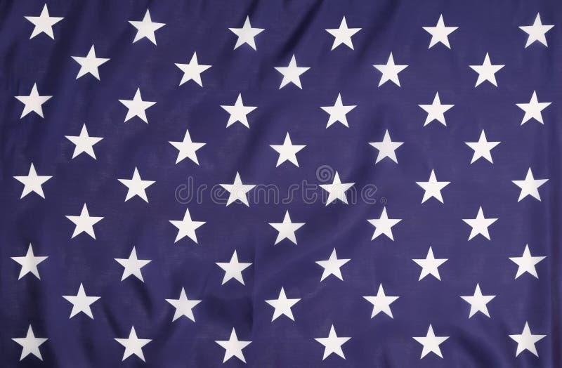 Αμερικανική σημαία με τα άσπρα αστέρια. στοκ φωτογραφία με δικαίωμα ελεύθερης χρήσης