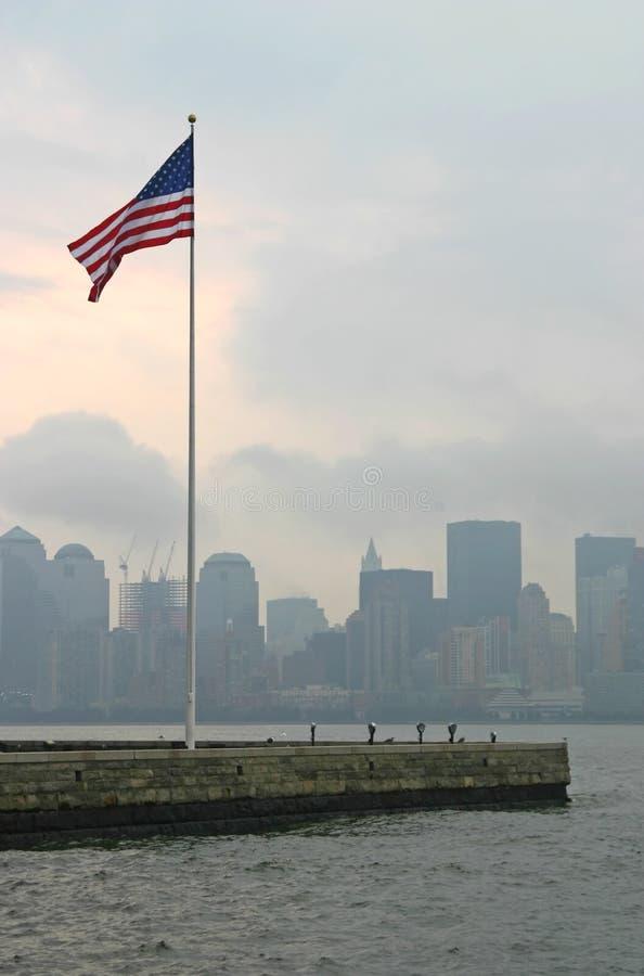 αμερικανική σημαία Νέα Υόρκη Στοκ Εικόνες