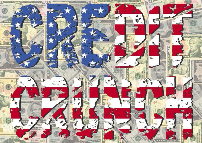 αμερικανική σημαία πιστωτικής κρίσιμης στιγμής ελεύθερη απεικόνιση δικαιώματος