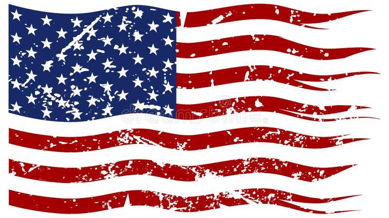 Αμερικανική σημαία που σχίζονται και Grunged στοκ φωτογραφία με δικαίωμα ελεύθερης χρήσης