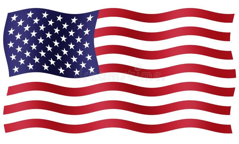 αμερικανική σημαία διανυσματική απεικόνιση