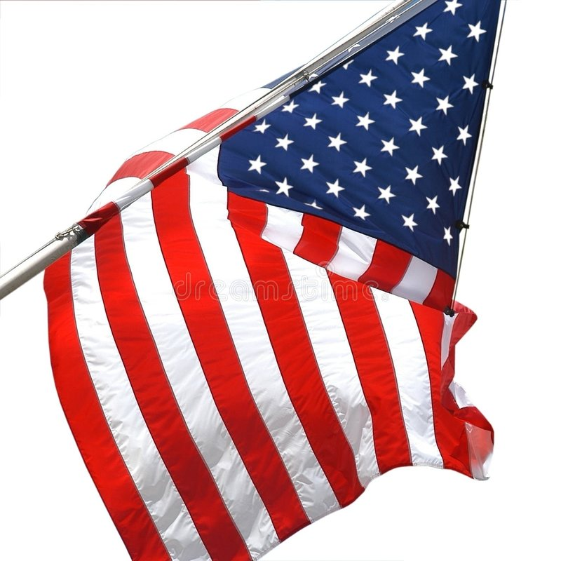 Download αμερικανική σημαία στοκ εικόνες. εικόνα από ενωμένος, απομονωμένος - 89556