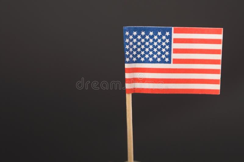 Αμερικανική σημαία - Toothpick στοκ εικόνα με δικαίωμα ελεύθερης χρήσης