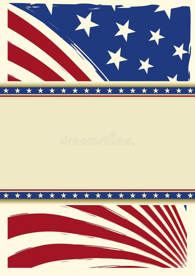 Αμερικανική συμπαθητική σημαία υποβάθρου διανυσματική απεικόνιση