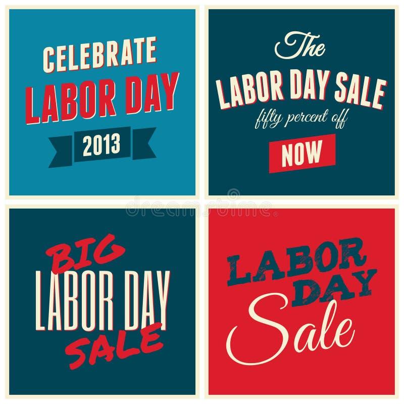 Αμερικανική συλλογή Εργατικής Ημέρας διανυσματική απεικόνιση