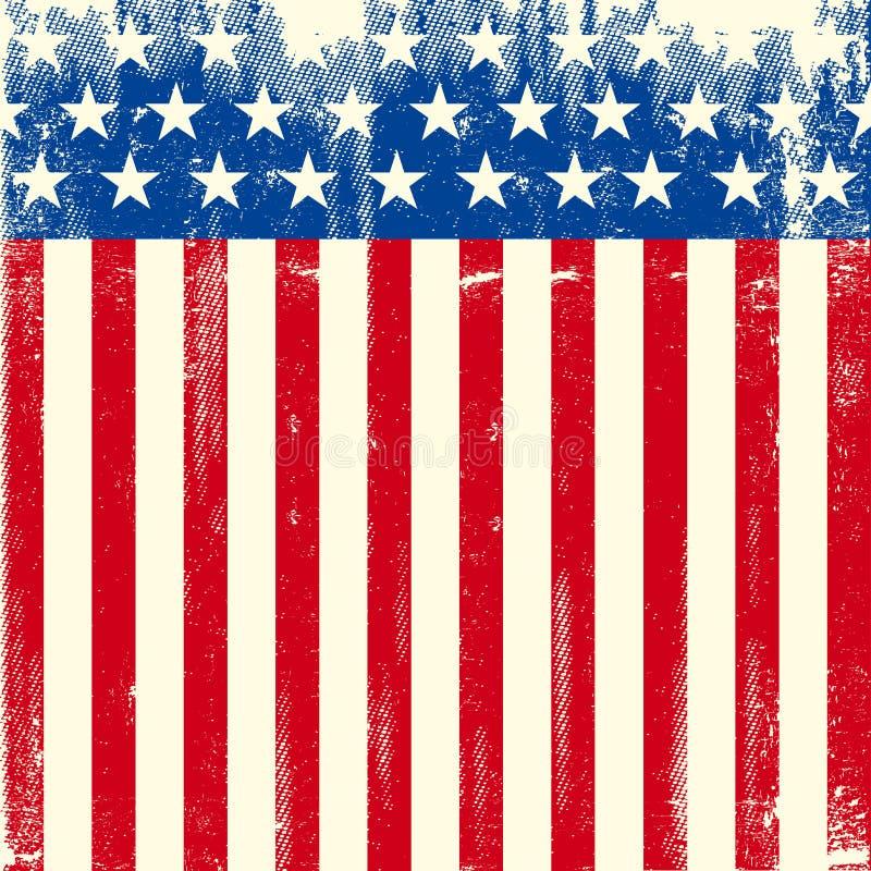 Αμερικανική τετραγωνική βρώμικη σημαία στοκ φωτογραφίες