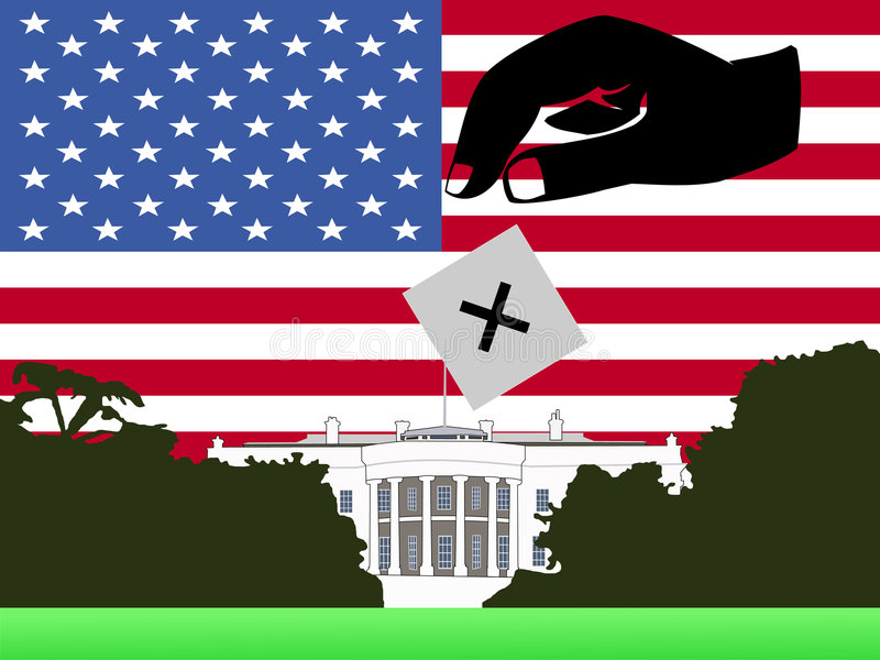 αμερικανική ψηφοφορία ε&kapp απεικόνιση αποθεμάτων