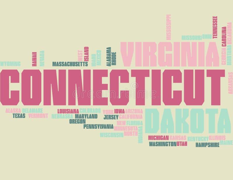 ΑΜΕΡΙΚΑΝΙΚΑ κράτη - σύννεφο λέξης απεικόνιση αποθεμάτων