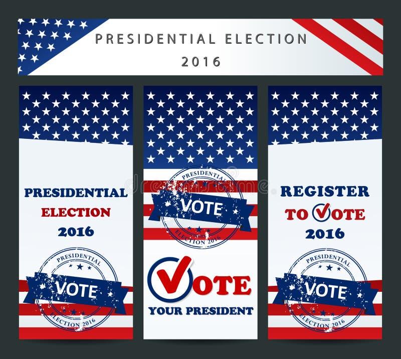 ΑΜΕΡΙΚΑΝΙΚΕΣ προεδρικές εκλογές - πρότυπο ελεύθερη απεικόνιση δικαιώματος