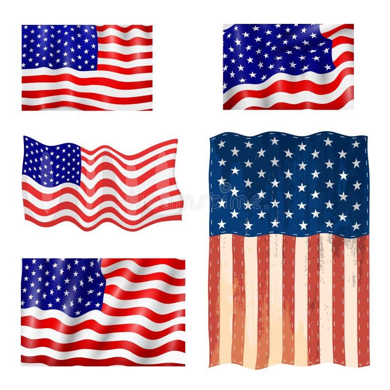 ΑΜΕΡΙΚΑΝΙΚΕΣ σημαία ημέρας της ανεξαρτησίας Ηνωμένων αμερικανική συμβόλων διανυσματική απεικόνιση εμβλημάτων ελευθερίας εθνική διανυσματική απεικόνιση