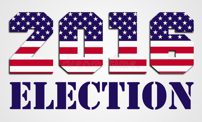 ΑΜΕΡΙΚΑΝΙΚΗ εκλογή 2016 διανυσματική απεικόνιση