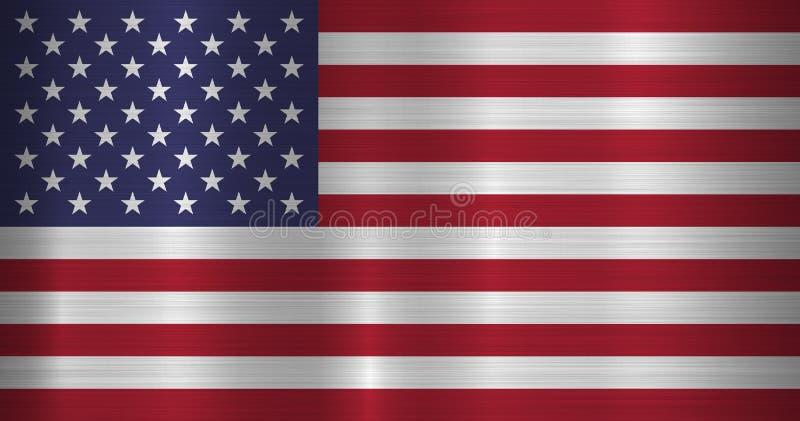 ΑΜΕΡΙΚΑΝΙΚΗ επίσημη σημαία ελεύθερη απεικόνιση δικαιώματος