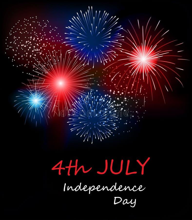 ΑΜΕΡΙΚΑΝΙΚΗ ευτυχής ημέρα της ανεξαρτησίας, 4η του Ιουλίου ελεύθερη απεικόνιση δικαιώματος