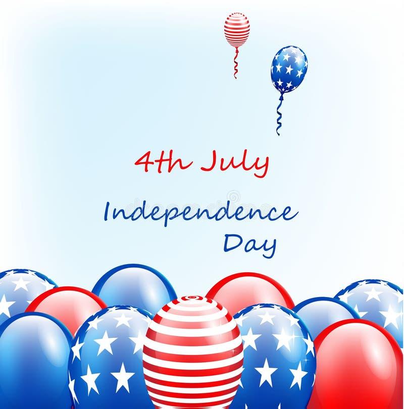 ΑΜΕΡΙΚΑΝΙΚΗ ευτυχής ημέρα της ανεξαρτησίας, 4η του Ιουλίου διανυσματική απεικόνιση
