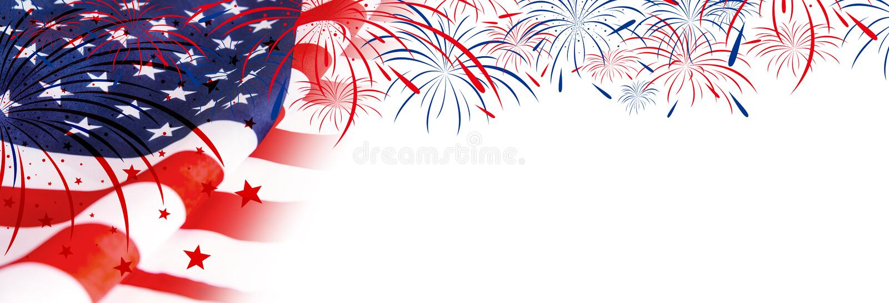 ΑΜΕΡΙΚΑΝΙΚΗ σημαία με τα πυροτεχνήματα στοκ εικόνες