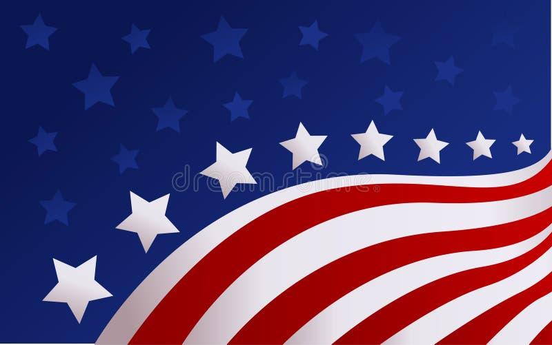 ΑΜΕΡΙΚΑΝΙΚΗ σημαία στο διάνυσμα ύφους απεικόνιση αποθεμάτων