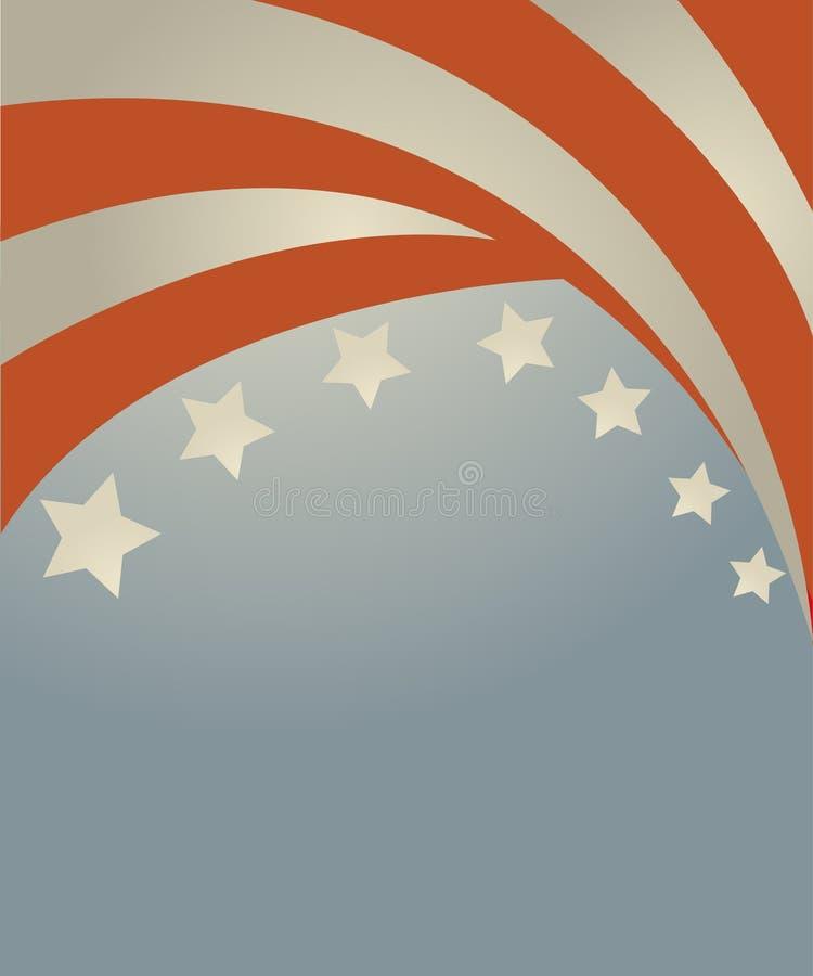 ΑΜΕΡΙΚΑΝΙΚΗ σημαία στο ύφος διανυσματική απεικόνιση
