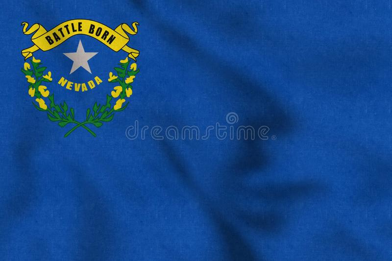 ΑΜΕΡΙΚΑΝΙΚΗ σημαία της Νεβάδας ήπια που κυματίζει στον αέρα απεικόνιση αποθεμάτων
