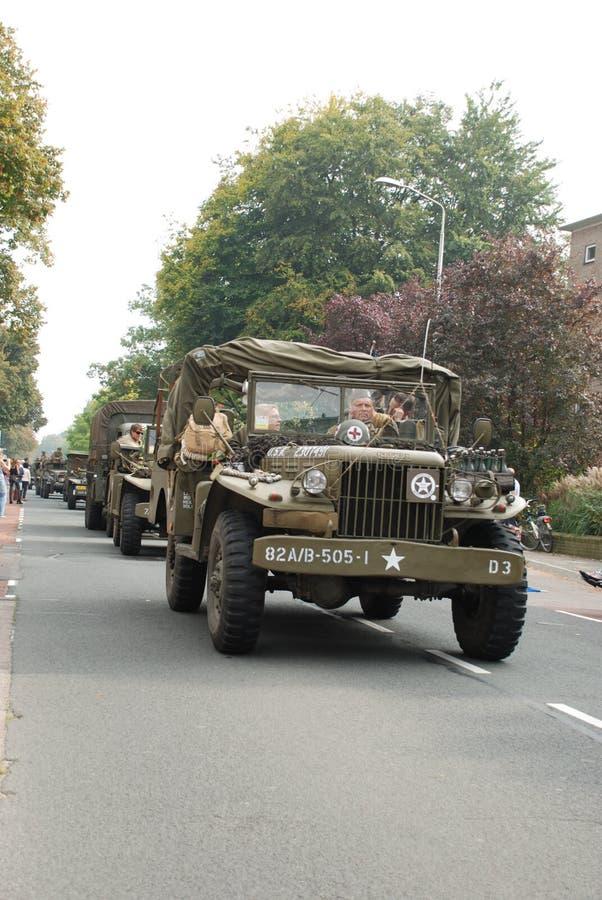 Αμερικανικοί στρατιώτες Nijmegen brige στοκ φωτογραφία