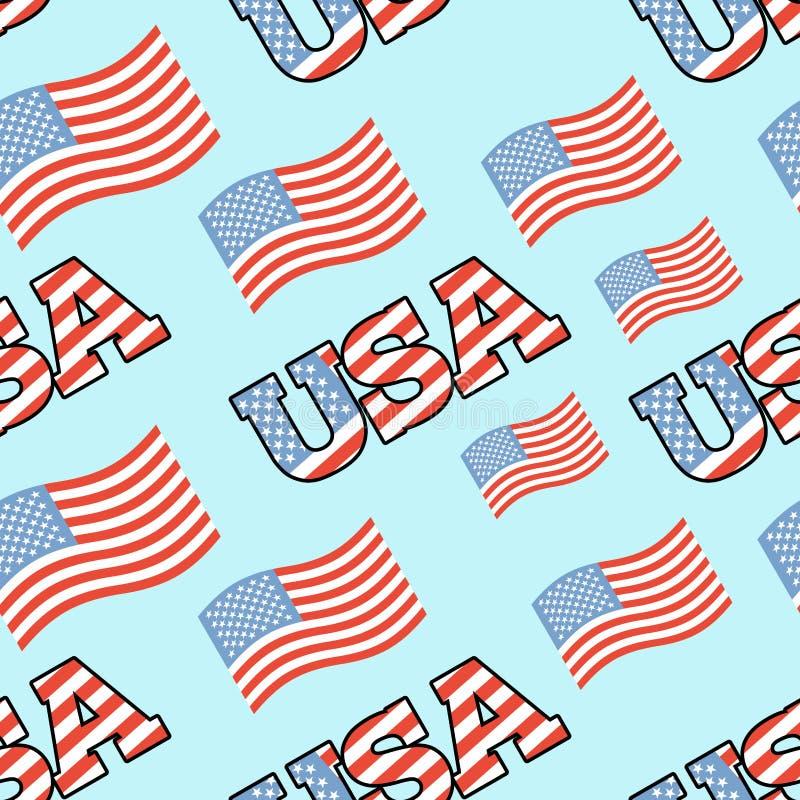 ΑΜΕΡΙΚΑΝΙΚΟ πατριωτικό άνευ ραφής σχέδιο Σύσταση αμερικανικών σημαιών Backgroun ελεύθερη απεικόνιση δικαιώματος