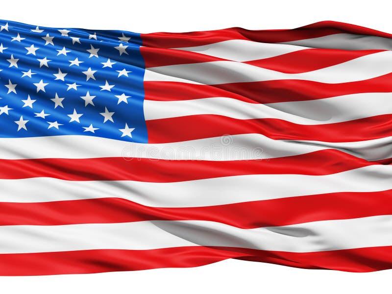 αμερικανικός κυματίζοντας αέρας σημαιών στοκ εικόνα