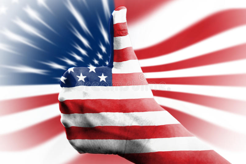 αμερικανικός υπέρ στοκ φωτογραφία
