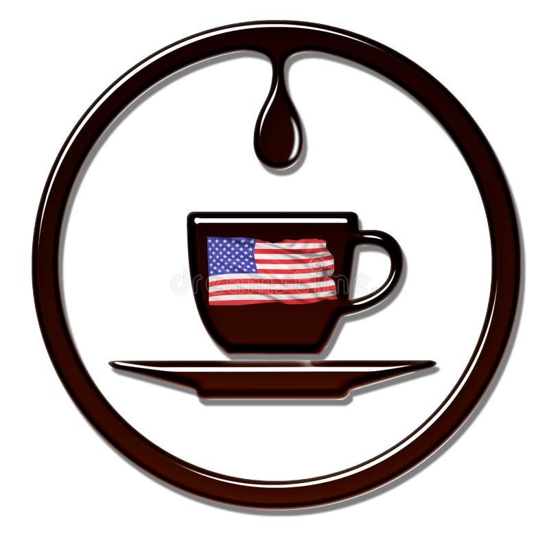 Αμερικανικός χρόνος καφέ διανυσματική απεικόνιση