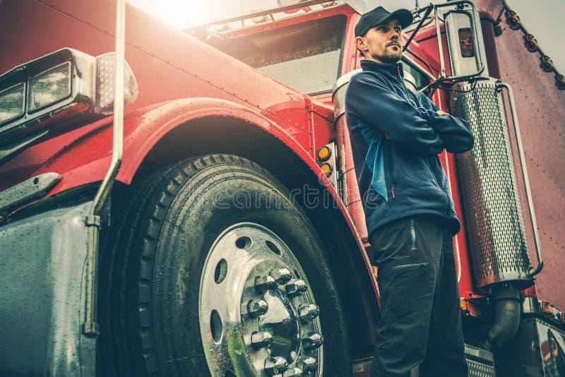 Αμερικανικός Trucker υπερήφανος στοκ φωτογραφίες