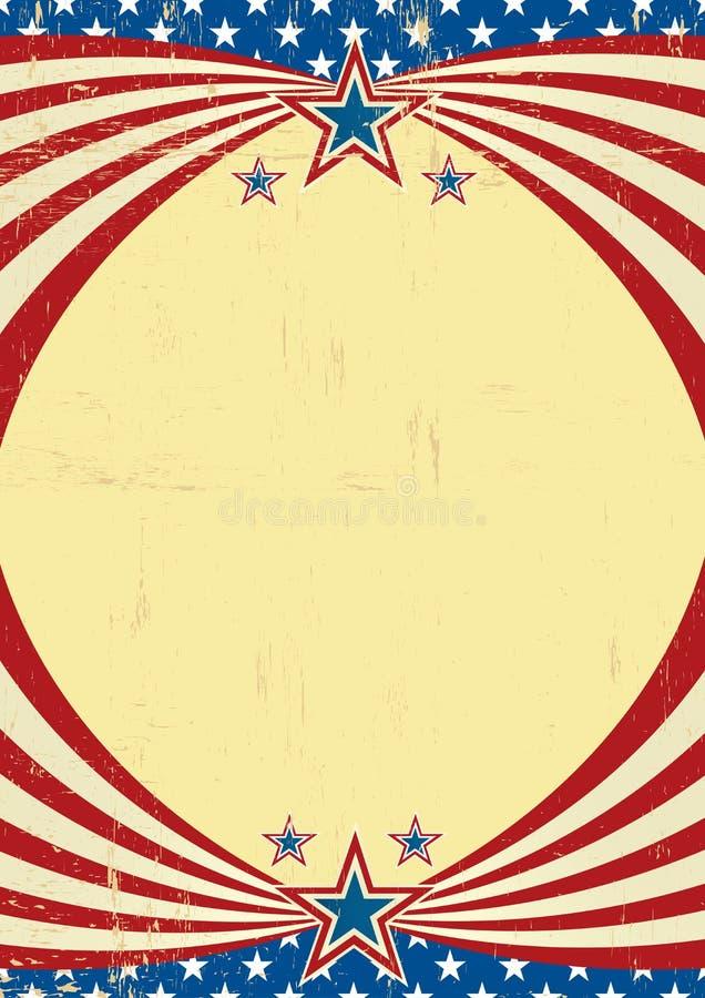 Αμερικανικό βρώμικο ιστορικό υπόβαθρο διανυσματική απεικόνιση