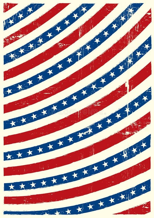 Αμερικανικό βρώμικο υπόβαθρο ελεύθερη απεικόνιση δικαιώματος