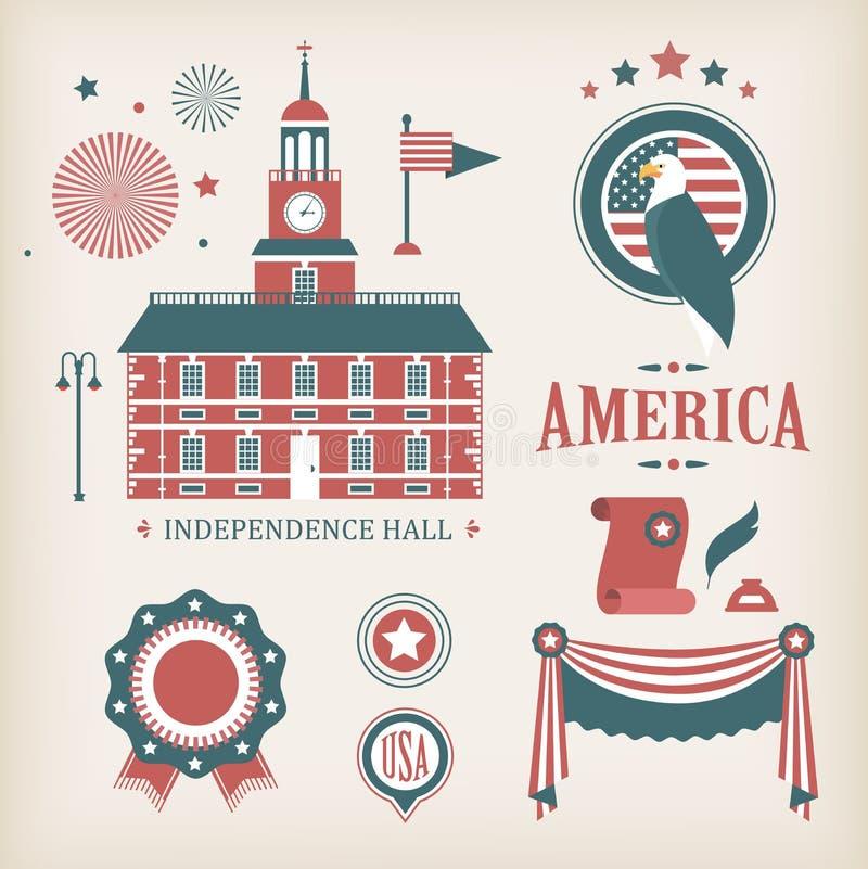 αμερικανικό διάνυσμα εικονιδίων διανυσματική απεικόνιση