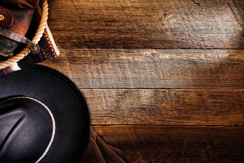 αμερικανικό δυτικό δάσος ροντέο καπέλων κάουμποϋ ανασκόπησης στοκ εικόνα με δικαίωμα ελεύθερης χρήσης
