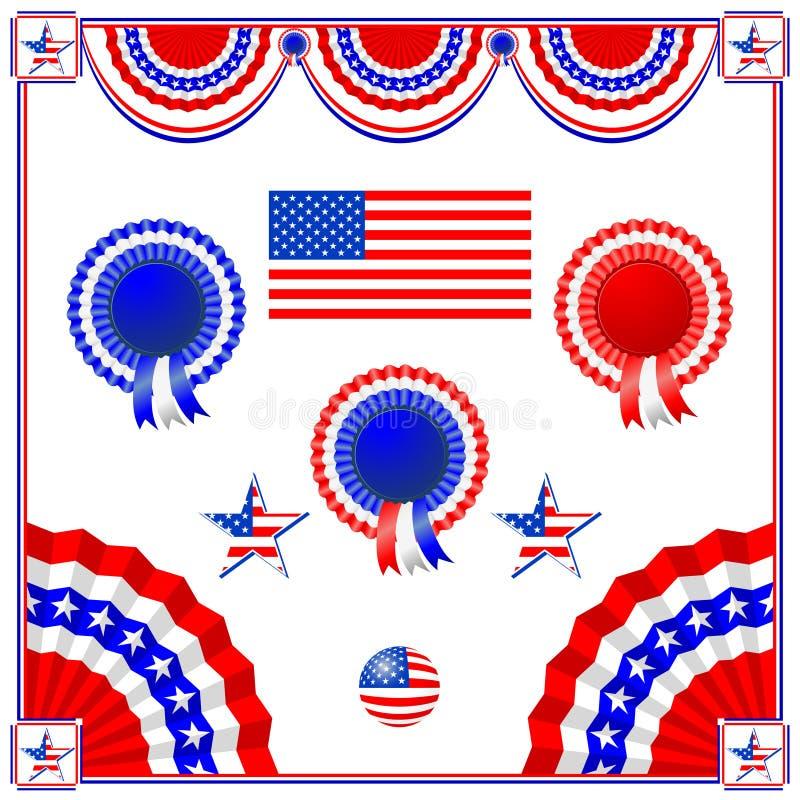 αμερικανικό εθνικό symbolics διανυσματική απεικόνιση