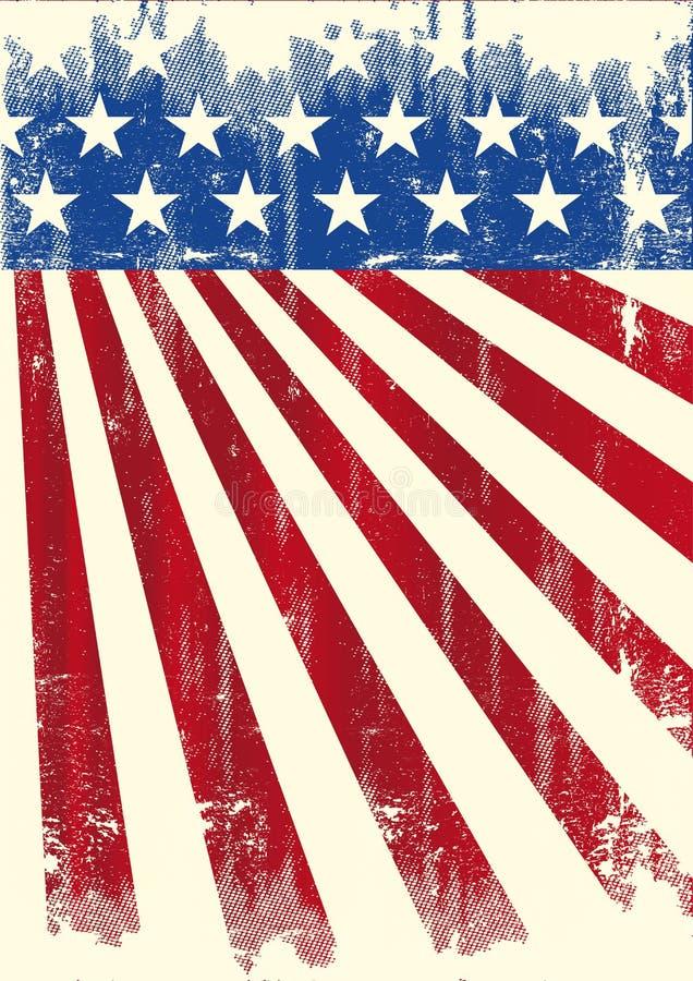 Αμερικανικό εκλεκτής ποιότητας έμβλημα σημαιών ελεύθερη απεικόνιση δικαιώματος