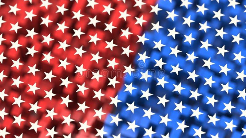 αμερικανικό θέμα σημαιών ανασκόπησης ελεύθερη απεικόνιση δικαιώματος