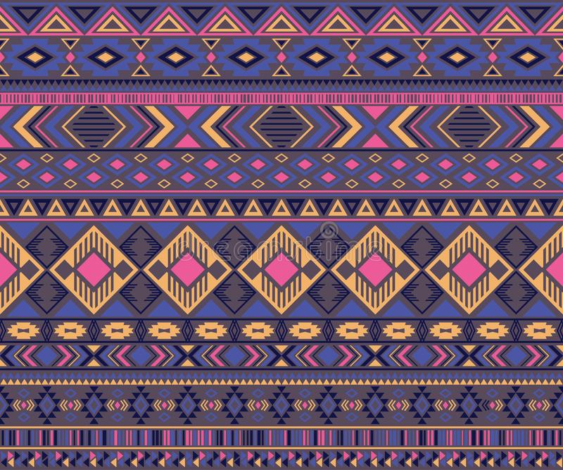Αμερικανικό ινδικό γεωμετρικό διανυσματικό υπόβαθρο μοτίβων σχεδίων φυλετικό εθνικό απεικόνιση αποθεμάτων