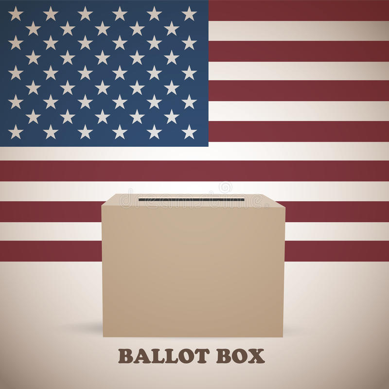 Αμερικανικό κάλπη εκλογών ελεύθερη απεικόνιση δικαιώματος