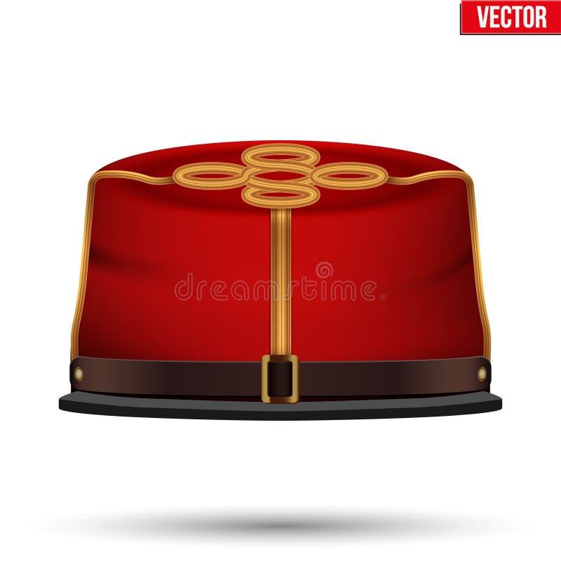 Αμερικανικό καπέλο ιππικού εμφύλιου πολέμου ομόσπονδο απεικόνιση αποθεμάτων