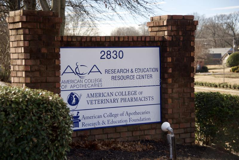 Αμερικανικό κολλέγιο των κτηνιατρικών φαρμακοποιών, Μέμφιδα, TN στοκ εικόνες