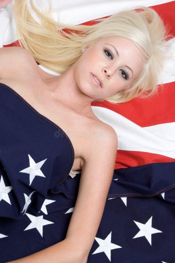 αμερικανικό κορίτσι στοκ φωτογραφία
