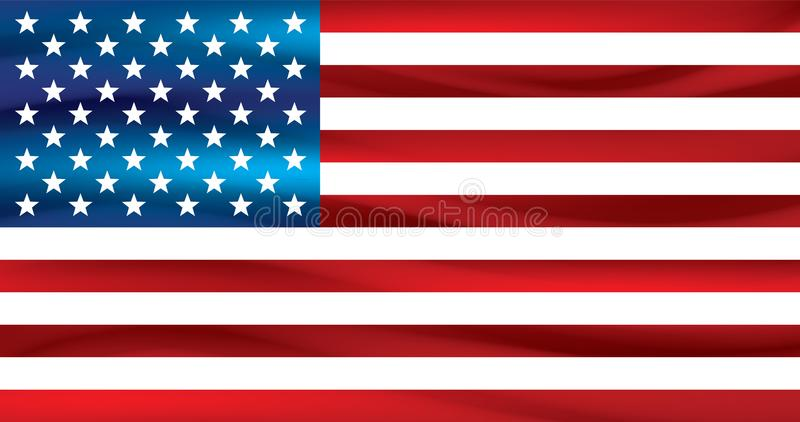 αμερικανικό λευκό σημαιών ανασκόπησης διάνυσμα ελεύθερη απεικόνιση δικαιώματος