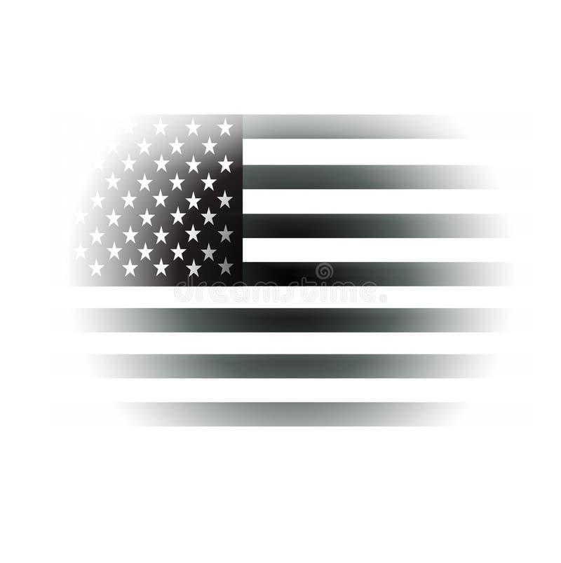 αμερικανικό μαύρο λευκό &sig ελεύθερη απεικόνιση δικαιώματος