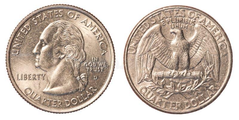 Αμερικανικό νόμισμα τετάρτου στοκ φωτογραφίες