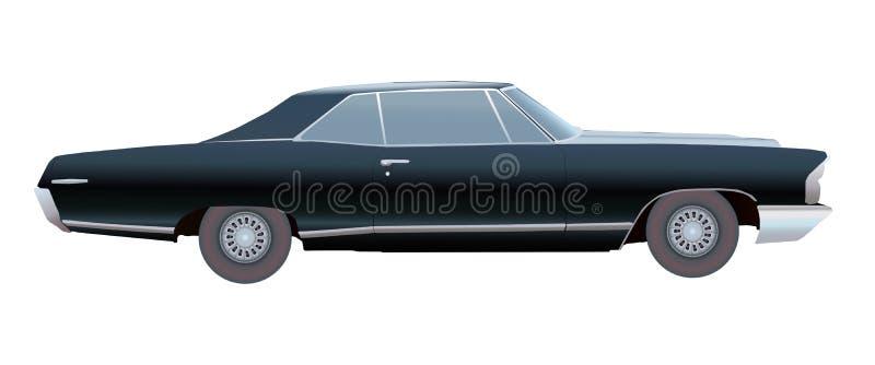 Αμερικανικό παλαιό αυτοκίνητο διάνυσμα διανυσματική απεικόνιση