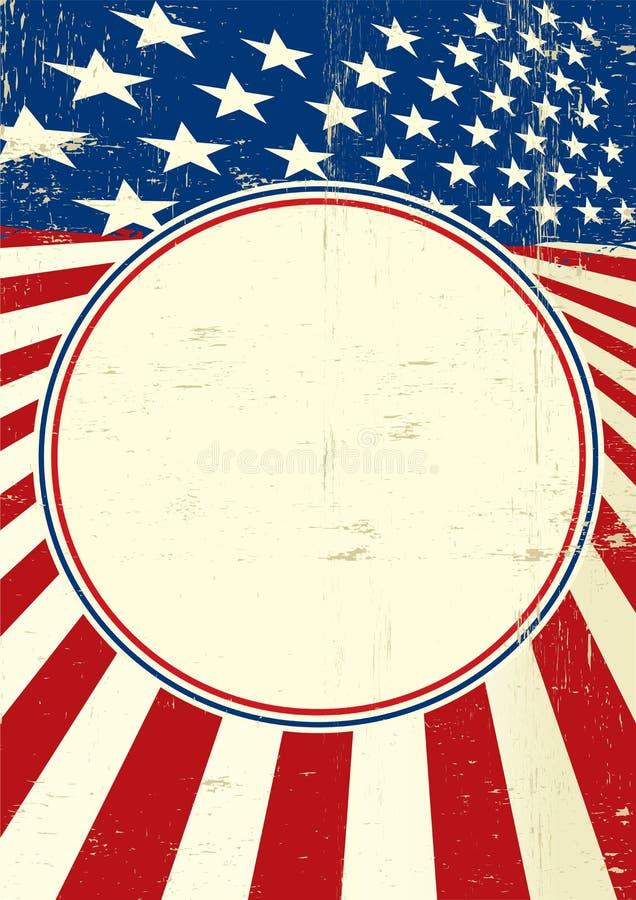 Αμερικανικό πλαίσιο κύκλων αφισών διανυσματική απεικόνιση