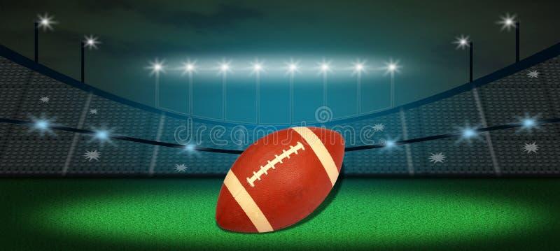 Αμερικανικό ποδόσφαιρο στο έδαφος διανυσματική απεικόνιση