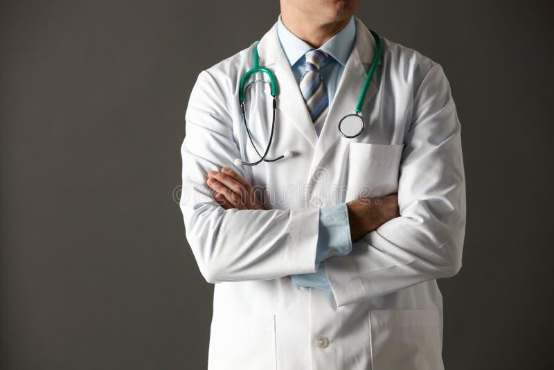 Αμερικανικό πορτρέτο στούντιο γιατρών που καλλιεργείται στοκ φωτογραφίες