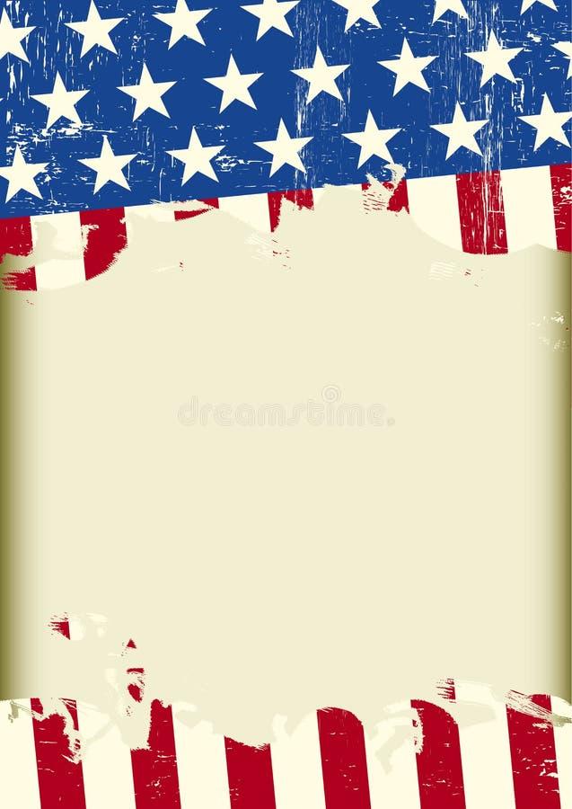 Αμερικανικό δροσερό βρώμικο υπόβαθρο ελεύθερη απεικόνιση δικαιώματος