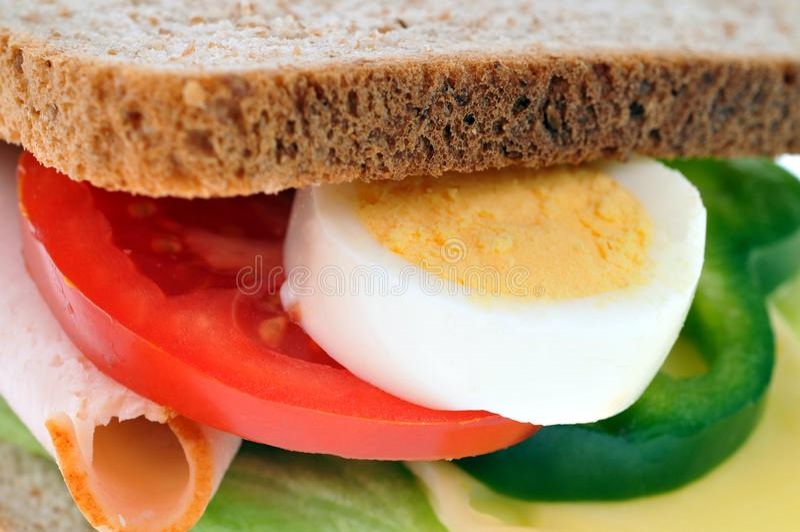 Αμερικανικό σάντουιτς στην κινηματογράφηση σε πρώτο πλάνο στοκ φωτογραφία με δικαίωμα ελεύθερης χρήσης