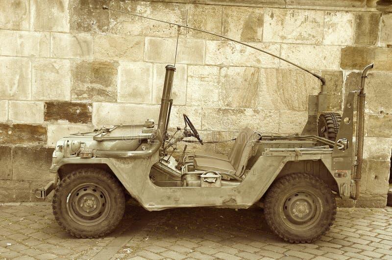 Αμερικανικό στρατιωτικό τζιπ στοκ εικόνα με δικαίωμα ελεύθερης χρήσης